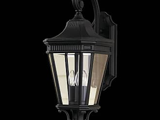 Feiss OL5402BK Cotswold Lane Outdoor Lantern in Black finish with Clear beveled glass shade