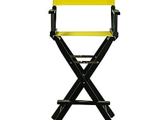 Yu Shan Casual Home 30 Directors Chair Black Frame-with Yellow Canvas, Bar Height