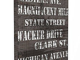 Proudly Made in USA 24 x 1.5 x 30 Stupell Home D/écor Canal Street Distressed Chicago Streets Oversized Stretched Canvas Wall Art