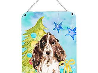 16 x 12 Carolines Treasures Tibetan Mastiff Winter Snowflakes Holiday Wall or Door Hanging Prints Multicolor