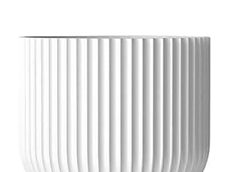 Lyngby Rhombe Kerzenhalter Bianco Porzellan 12 cm