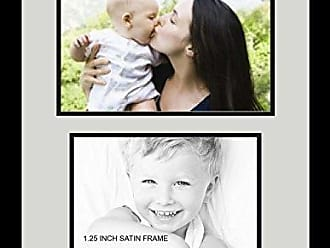 Art to Frames Collage Photo Frame Double Mat with 1 - 8.5x11^ 8.5x12.5 Openings and Satin Black Frame
