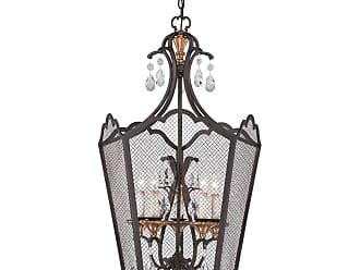 Metropolitan Cortona 24 5-Light Foyer Pendant in French Bronze/Gold