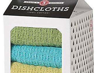 Now Designs Milk Carton Dishcloth, Chartreuse/Turquoise/Leaf, Set of 3