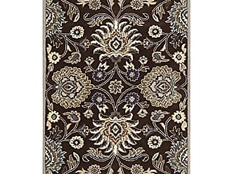 Surya CAE1063-69 Floral Traditional Area Rug, 6 by 9-Feet, Brown