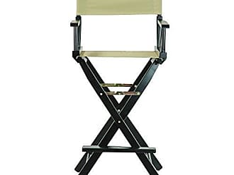 Yu Shan Casual Home 30 Directors Chair Black Frame-with Tan Canvas, Bar Height