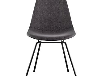 NyeKoncept 331008CL3 Mid Century Classroom Side Chair, Charcoal Gray