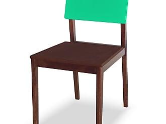 Nem Tudo é Igual Cadeira Felipe Marrom Escuro e Verde AnisMarrom Escuro e Verde Anis