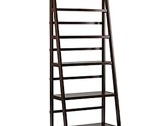 Simpli Home Simpli Home AXWELL3-016 Acadian Solid Wood 72 inch x 30 inch Rustic Bookcase in Tobacco Brown