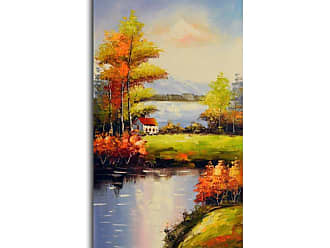 Omax Decor OMAX Peaceful Solitude Oil Painting on Canvas - 20W x 40H in. - M 3094