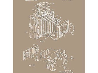 Inked and Screened SP_Vint_3,253,528_KR_24_W Patent Camera Accessory Print, Kraft-White Ink, 18 x 24