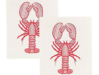 Now Designs Swedish Dishcloths, Set of 2, Lobster Catch Print