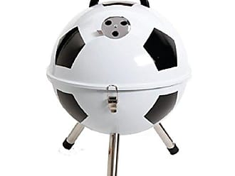Gibson Home 107192.01 Home Soccer Ball BBQ Steel Grill, 12-Inch, White