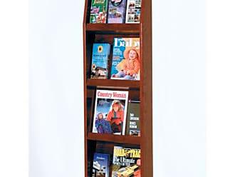 Wooden Mallet Slope 12-Pocket Literature Display, Mahogany