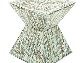 Deco 79 49092 Wood Inlay Accent Table, 16 x 19