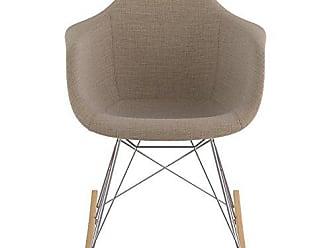 NyeKoncept 332001RO1 Mid Century Rocker Chair, Light Sand