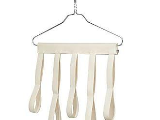 InterDesign Lauren Scarf Organizer, No Snag Storage for Scarves, Ties, Shawls, Pashminas - Over Door/Hanger, 10 Loops, Cream