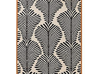 Surya NAN8003-811 Nantes Area Rug, 8 x 11, Black/Khaki/Bright Orange