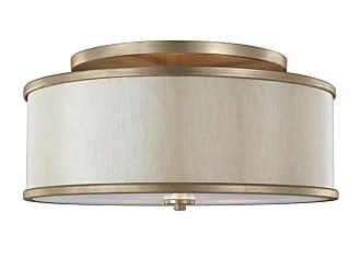 Feiss Lennon 20 3-Light Semi-Flush Mount in Sunset Gold