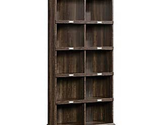 Sauder Sauder 422716 Barrister Lane Tall Bookcase, L: 35.51 x W: 13.47 x H: 75.04, Iron Oak finish