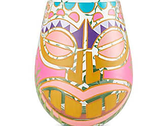Enesco 6004369 Designs by Lolita Tiki Artisan Wine Glass 20 oz. Multicolor