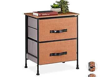 72 x 39 x 39 cm Legno Colorato Relaxdays 10021867 Mobiletto Tondo 4 Scomparti Coperchio-Vassoio Design Scandinavo Decorativo HxLxP