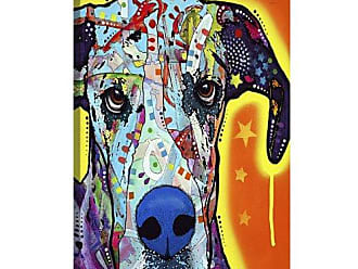 iCanvas Great Dane by Dean Russo Canvas Art Print, 26 by 18-Inch