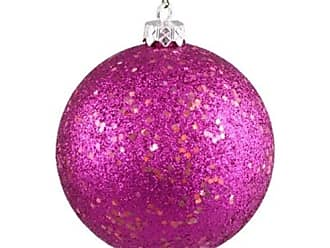 Queens of Christmas WL-ORN-BLKG-60-PI-W 60mm Glitter Pink Ball Ornament with Wire (Pack of 12)