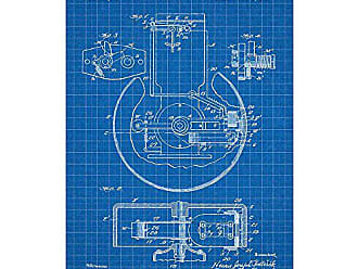 Inked and Screened SP_ELEC_948,483_BG_17_W Inductor Generator for Ignition Silk Screen Print, 11 x 17 Blue Grid - White Ink