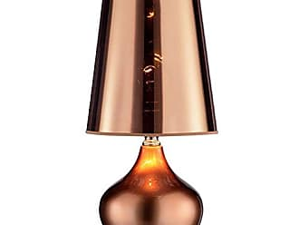 Ore International K-818T-RG 18 Luster Touch-On Rose Gold Table Lamp, Red