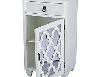 Heather Ann Creations Standing Single Drawer Distressed Storage Cabinet, 30 x 18, Beige