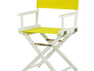 Yu Shan Casual Home 18 Directors Chair White Frame with Yellow Canvas