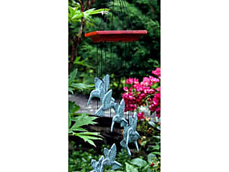 Woodstock Chimes Woodstock Habitats Hummingbird Spiral 18 in. Wind Chime - HHS