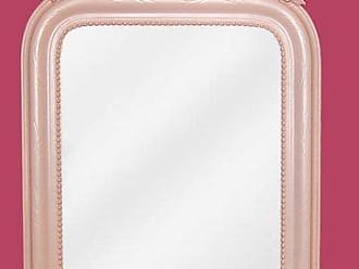Hickory Manor House KT7228 PPP Wreath Mirror/Powder Puff Pink