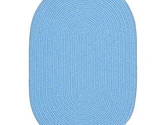 Rhody Rug Fun Braids Solid Aqua Blue 5X8 Oval