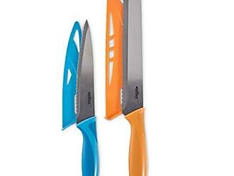 Zyliss E920188U 2pc Serrated Knife V Set, 2 Sizes, Orange and Blue