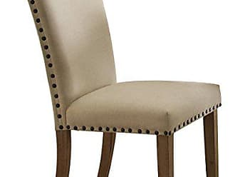Homelegance Homelegance 5100-S3 Fabric Upholstered Side Chair with Nailheads, Beige, Set of 2