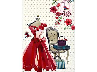 Évolur Home Pink Dress Vanity Nursery Rug, Girls - 1052