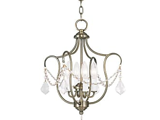 Livex Lighting 6434-LQ Chesterfield 4 Light Pendant Antique Gold Leaf