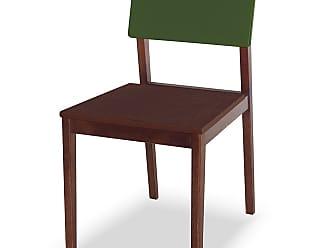 Nem Tudo é Igual Cadeira Felipe Marrom Escuro e Verde MusgoMarrom Escuro e Verde Musgo