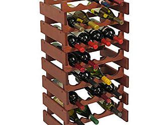 Wooden Mallet 28 Bottle Dakota Wine Rack, Mahogany
