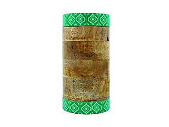 Foreside Home And Garden Mango Wood Canister Jade
