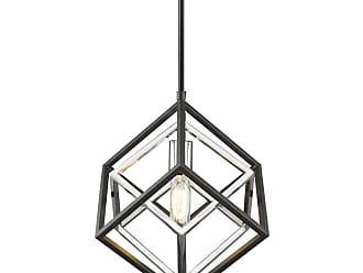 Z-Lite 457MP Euclid Single Light 12 Wide Abstract Pendant Olde Brass