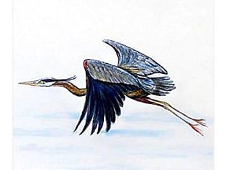 Betsy Drake FL327 Eddies Blue Heron, 12.5 x18