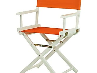 Yu Shan Casual Home 18 Directors Chair White Frame with Tangerine Canvas