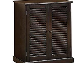 Furniture Of America Laires 5 Shelf Enclosed Shoe Cabinet Espresso