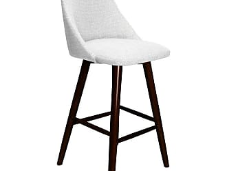 SOUTH CONE Enzo 26 in. Upholstered Counter Stool with Swivel Espresso - ENZOCS26/WAL/ESPRESSO