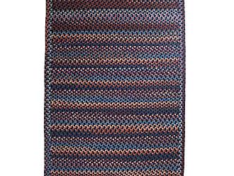 Rhody Rug Blue Ridge Rectangle Wool Braided Rug, 23 x 8 Runner, in Navy Multi