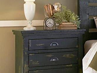 Progressive Furniture Willow Distressed Black Nightstand, 32 x 17 x 31