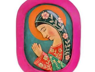 Novica Wood relief panel, Beautiful Guadalupe